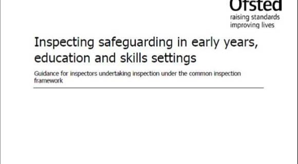 Ofsted guidance on Inspecting safeguarding in early years, education and skills_cropped